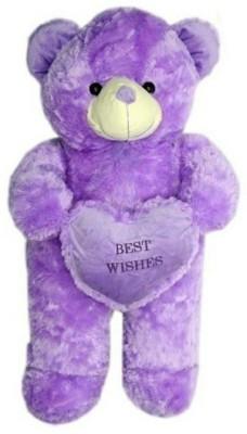 ARMS ENTERPRISES kashish sweet purple teddy bear pack of  2 27 inch   27 inch Purple ARMS ENTERPRISES Soft Toys