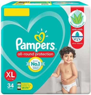 Pampers BABY DIAPER PANTS, SIZE XL, 34 PCS PACK   XL 34 Pieces Pampers Baby Diapers