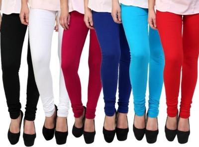 NewYorks Fashions Churidar  Legging(White, Black, Red, Maroon, Dark Blue, Light Blue, Solid)