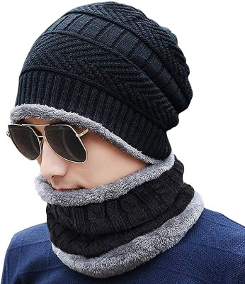 Relieco Solid Ultra Soft Woolen Beanie Cap Cap