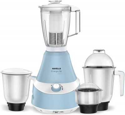 Havells Energia ENERGIA BLUE 4 JAR 750 W 750 Juicer Mixer Grinder(Blue, 4 Jars)