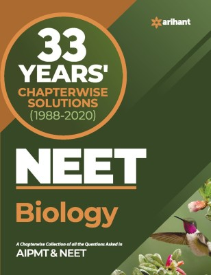 33 Years Chapterwise Solutions NEET Biology 2021(English, Paperback, Arihant Experts)