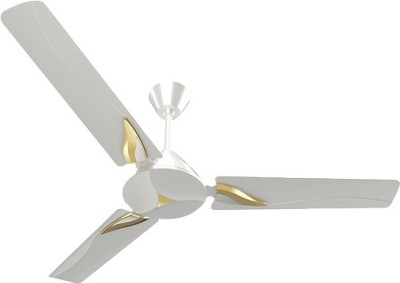 CROMPTON Modern Leaf Pearl-white-gold 1200 mm ceiling fan high speed I Double Ball Bearing With 390 RPM Highest Air Delivery I 100 % Copper Winding I Made In India 1200 mm Ultra High Speed 3 Blade Ceiling Fan 1200 mm Ultra High Speed 3 Blade Ceiling Fan(Pearl-white-gold, Pack of 1)