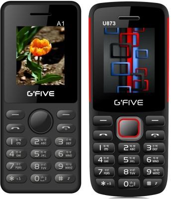 Gfive A1 & U873 Combo of Two(Black Orange : Black)