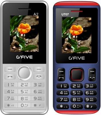GFive A2 & U707 Combo of Two Mobiles(White : Blue)