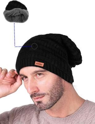 Knotyy Solid beanie, woolen Cap