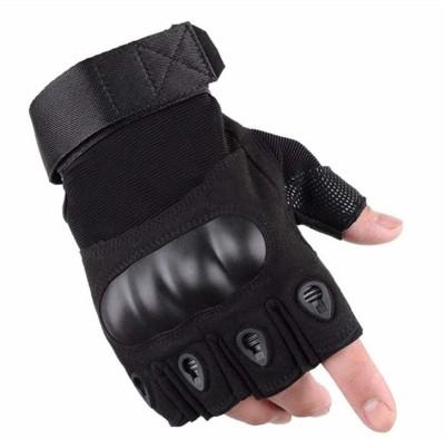 Zonkar Half Finger Hard Motorcycle Gloves Gym & Fitness Gloves Multi Riding Gloves(Black)