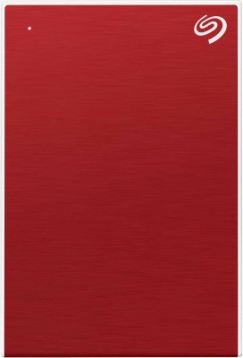 Seagate 5 TB External Hard Disk Drive(Red, White)