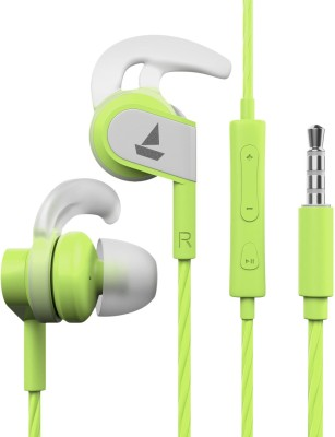 boAt Bassheads 242 Wired Headset(Spirit Lime, In the Ear)