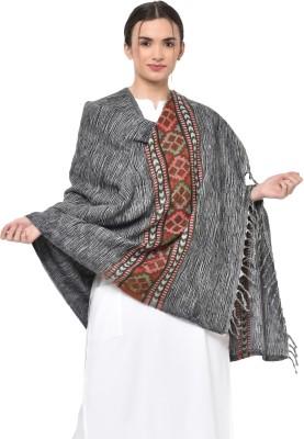 Weavers Villa Cashmere, Wool Woven Women Shawl(Grey)