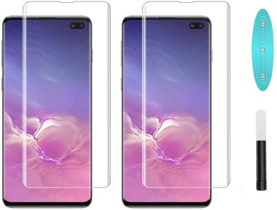 Fovtyline Edge To Edge Tempered Glass for Samsung Galaxy S10 Plus(Pack of 2)