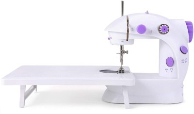 LATESHOP Portable & Compact Mini Sewing Machine with Extension Table, And Sewing Kit Box, adapter and foot pedal Portable Dual Speed Beginner Sewing Machine with Light Electric Sewing Machine( Built-in Stitches 30)