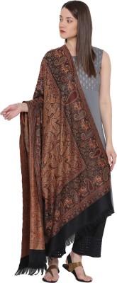 Weavers Villa Wool Woven Women Shawl(Black)
