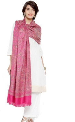 Weavers Villa Wool Printed Women Shawl(Pink)