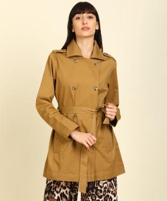PEOPLE Cotton Lycra Blend Solid Coat