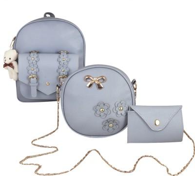 I-Zone 8 Liter Stylish girls Sling bag Grey 10 L Backpack(Grey)