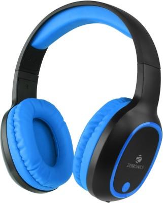 ZEBRONICS Zeb-Thunder(Blue) Bluetooth Headset(Blue, On the Ear)