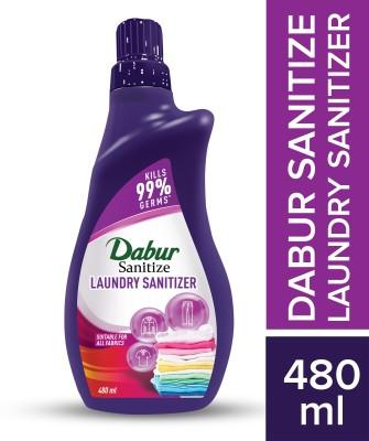 Dabur Sanitize Laundry Sanitizer | Kills 99 % germs on fabrics Liquid Detergent (480 ml)