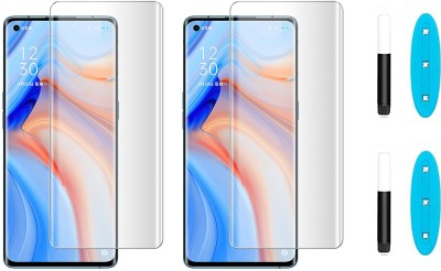 Fovtyline Tempered Glass Guard for Oppo Reno 4 Pro(Pack of 2)