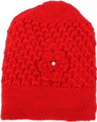 Qitty Self Design Stylish Soft Quality Winter Warm Woolen Beanie Cap for Women Cap