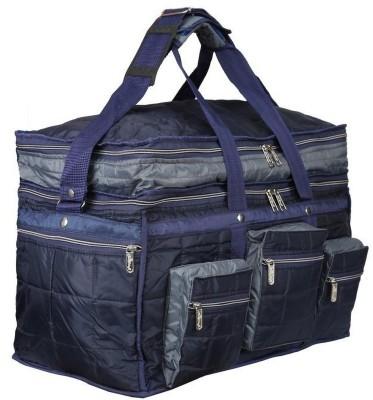 SuiDhaga 3D Double Decker Travelling Bag 22 Inches  Dimension: 53*28*38 CM  Travel Duffel Bag Blue SuiDhaga Duffel Bags