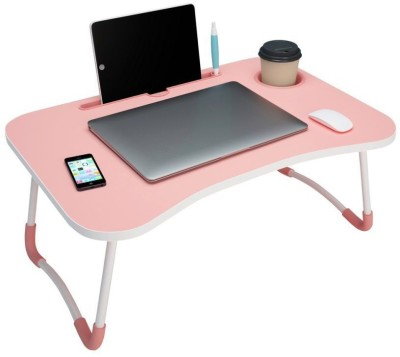 kitchoff Wood Portable Laptop Table(Finish Color - Pink)