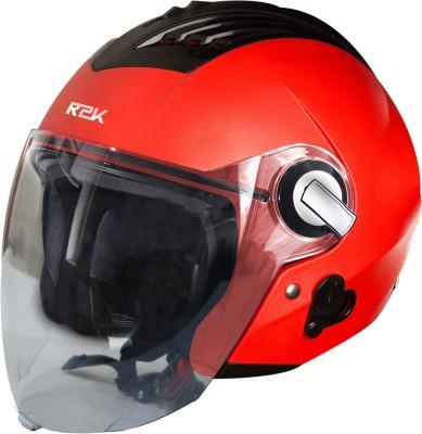 Steelbird SBA-3 R2K Classic Open Face Helmet in Red Motorbike Helmet(Red With Plain Visor)