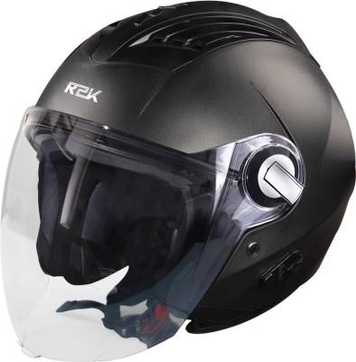 Steelbird SBA-3 R2K Classic Open Face Helmet in Black Motorbike Helmet(Black With Plain Visor)