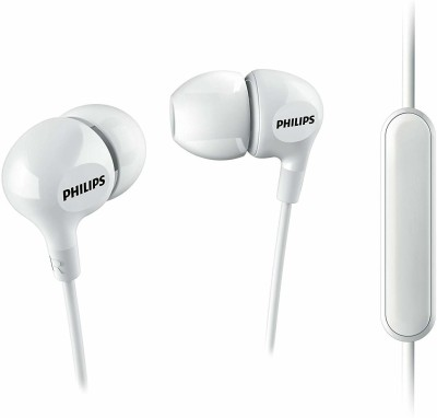 Philips 100% Original SHE3555WT Wired Headset(White, In the Ear)