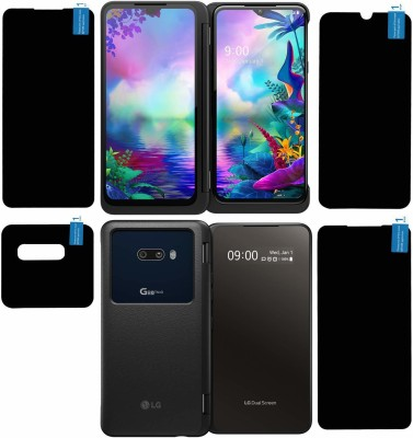 KANCHA Front and Back Tempered Glass for LG G8x(Pack of 4)