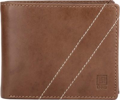 U+N Men Formal Brown Genuine Leather Wallet 9 Card Slots U+N Wallets