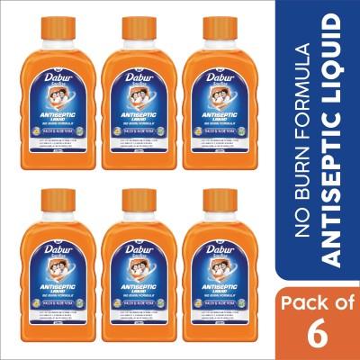 Dabur Sanitize Antiseptic Liquid Antiseptic Liquid (750 ml, Pack of 6)