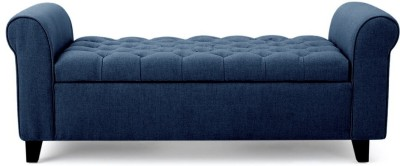 febonic RAY Solid Wood 3 Seater(Finish Color - BLUE)
