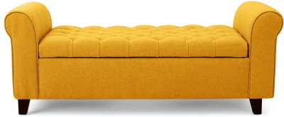 febonic RAY Solid Wood 2 Seater(Finish Color - yellow)