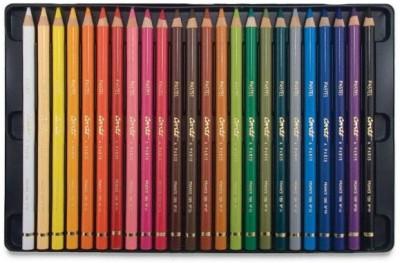 Conte A Paris Pastel Pencils   24 Shades Round Shaped Color Pencils Set of 1, Multicolor Conte A Paris Toys