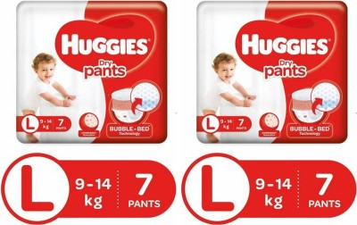 Huggies Dry pants diapers   L 7+7 Pieces   L 2 Pieces Huggies Baby Diapers
