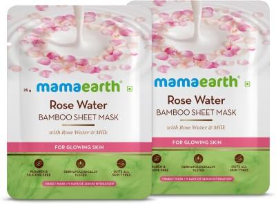 MamaEarth Rose Bamboo Sheet mask(Pack of 2)(50 g)