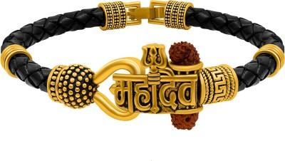 NAKABH Leather Silver Bracelet