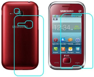Ecomaholics Front and Back Screen Guard for SAMSUNG REX 60(Pack of 2)