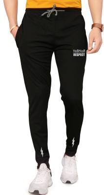 VeBNoR Solid Men Black Track Pants