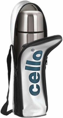 cello Flip Style with Jacket Stainless Steel 1000 ml Flask(Pack of 1, Silver, Black, Steel)