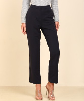 AND Regular Fit Women Blue Trousers