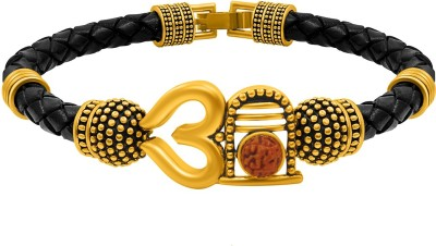 NAKABH Leather Gold-plated Bracelet