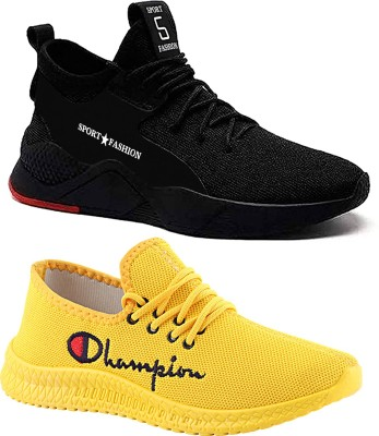 Chevit Casuals For Men(Yellow, Black)