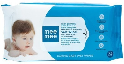 MeeMee Caring Baby Wet Wipes with Aloe Vera 72 Wipes MeeMee Baby Wipes