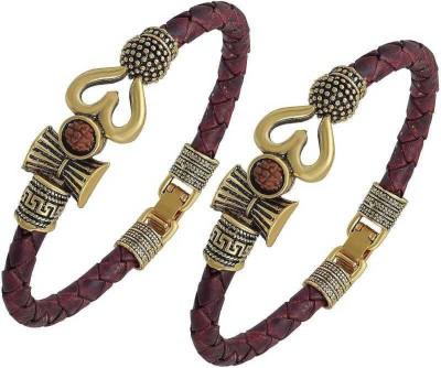 CloudConcept Brass Silver Coated Bracelet(Pack of 2)