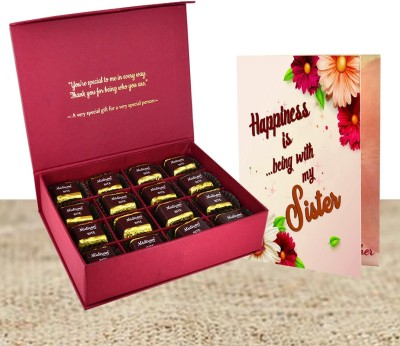 Midiron Gift for sister, Birthday gift for gifts, Chocolate gift for sister, Rakhi gift for sister, anniversary gift for sister Paper Gift Box(Multicolor)