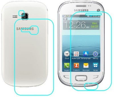 Ecomaholics Front and Back Screen Guard for SAMSUNG REX 90(Pack of 2)