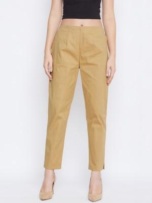 Q-Rious Regular Fit Women Brown Trousers