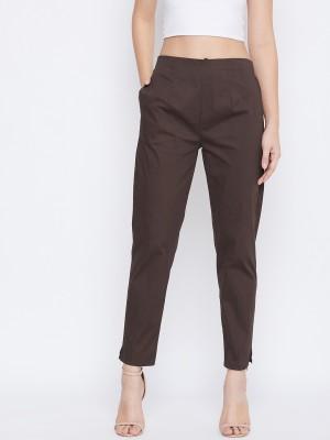 Q-Rious Regular Fit Women Maroon Trousers